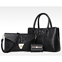 9c7b28432126 Ladies Black Hand Bag 3 In 1