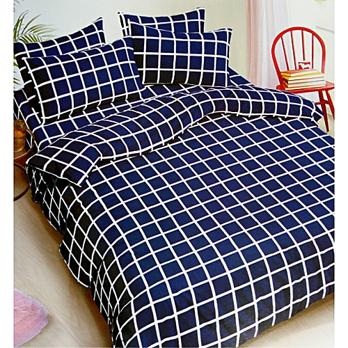 COOL BLUE AND WHITE BEDSHEETS