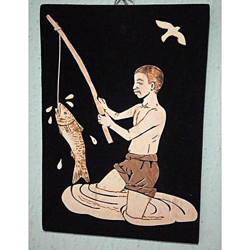 Handmade Art Work Of An African Fisherman