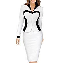 Fashion Office Women's Dress- White