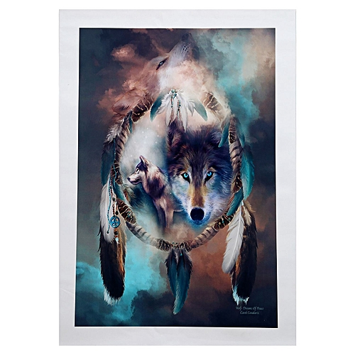 Dreamcatcher Wolves Animals Diy Digital Painting Oil Painting For Home Decor