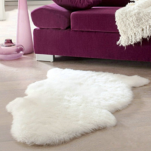 Generic Super Soft Faux Sheepskin Chair Cover Warm Hairy Carpet Seat