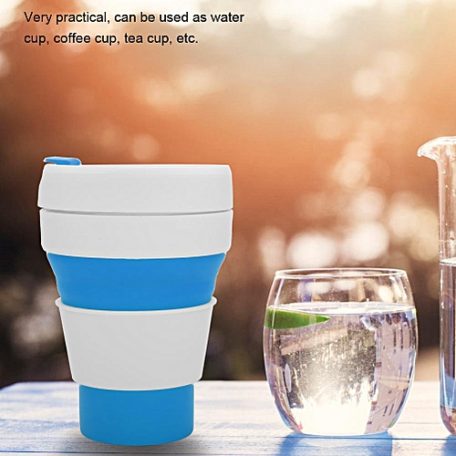 350ML Silicone Retractable Folding Coffee Cup Mug Telescopic Collapsible Travel Outdoor