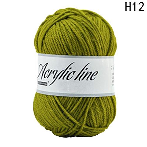 Eleganya Pure Color Hook Shoes Dedicated High Quality Acrylic Knit Yarn H12