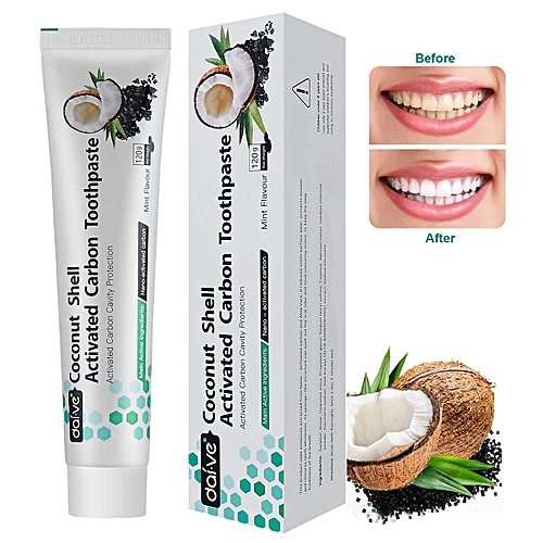 Toothpaste, Charcoal Teeth Whitening Toothpaste 120g (1-Pack)