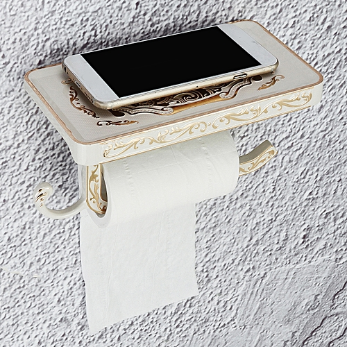 Vintage Retro Alloy Toilet Paper Towel Roll Holder Bathroom Wall Mount Rack Set