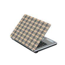 Laptop Protection Skin : Check Design - Yellow
