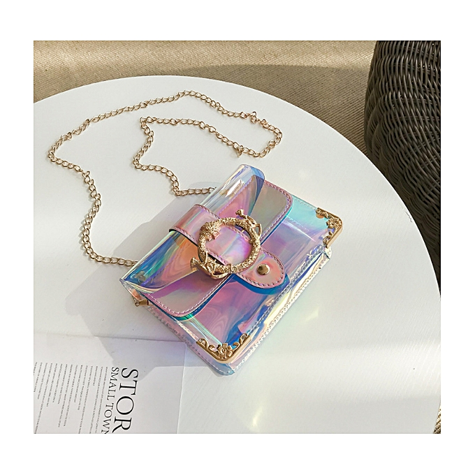 Fashion Laser Small Square Bag - Pink