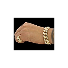 Cuban Gold Hand Chain And Ring