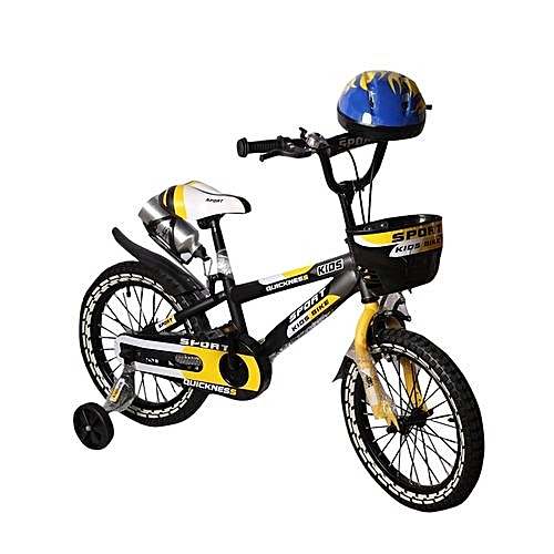 Sport Children Bicycle 16 With Helmet Black Yellow Jumia Ng