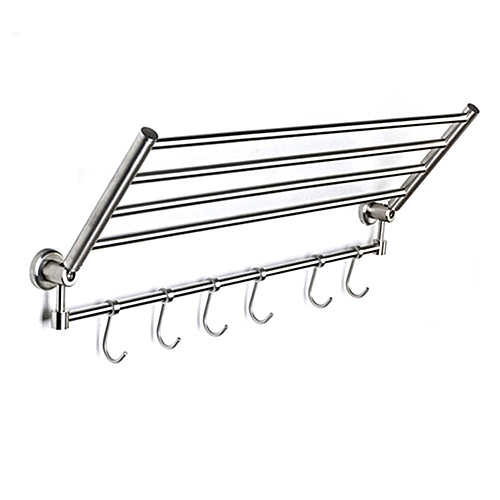 Stainless Steel Bath Towel Rack Bathroom Shelf Towel Storage Square Style Wall Mount SBH066A