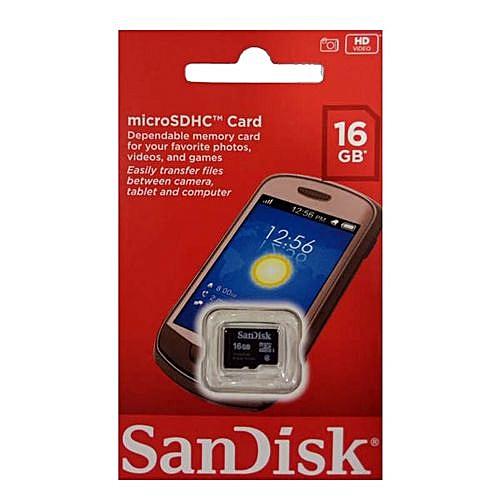 16GB Micro SDHC Memory Card + Adapter