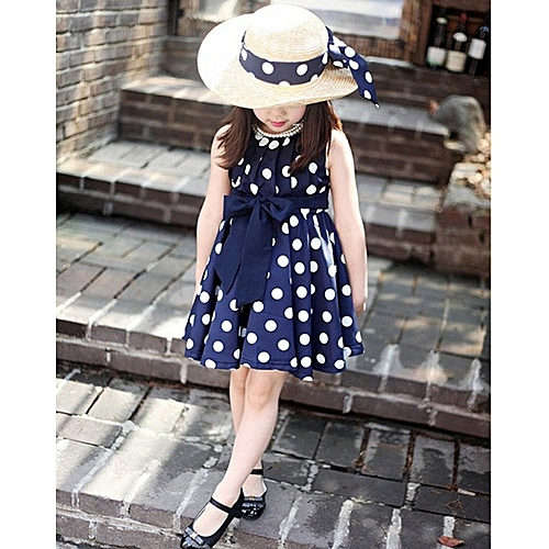 a1de8ff17c87 Fashion Kids Children Clothing Polka Dot Girl Chiffon Sundress Dress ...