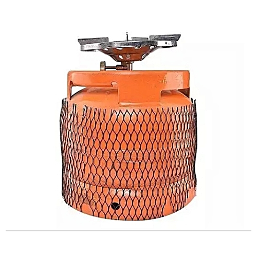 Refillable Gas Cylinder With Stainless Burner-7kg Orange