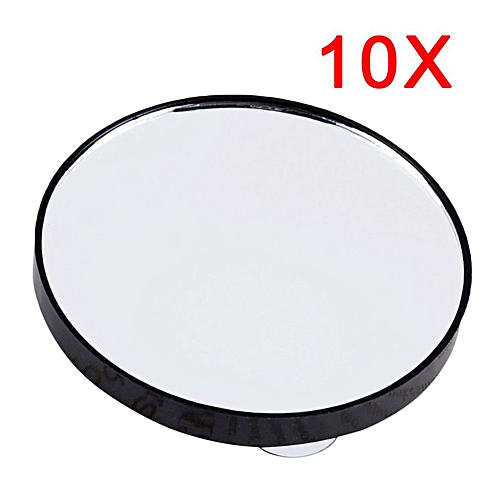 Mini Round Makeup Mirror 5X 10X 15X Magnifying Mirror With Two Suction Cups Black
