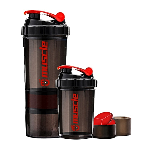 New Protein Powder Shaker Bottle Fitness Mixer Sports Fitness Gym 3 Layers Cup