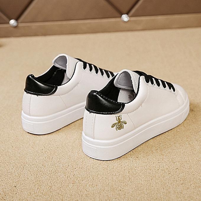8184fd4199 Fashion Women Shoes Fashion Pu Leather Women Flats Platform Black ...