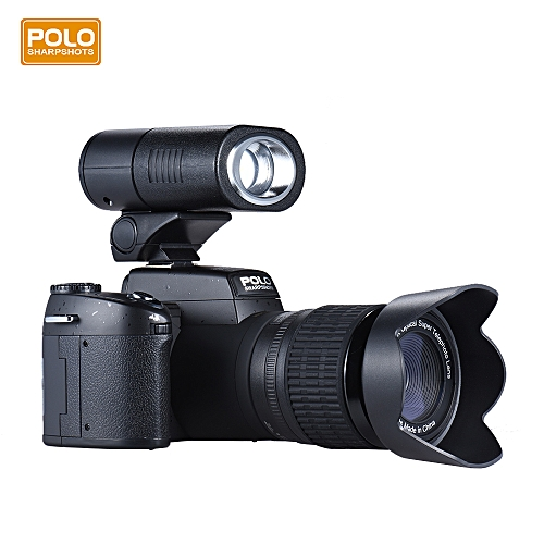 "Polo Sharpshots Auto Focus AF 33MP 1080P 30fps FHD 8X Zoomable Digital Camera W/ Standard + 0.5X Wide Angle + 24X Telephoto Long Lens 3.0"" LCD Bulit-in Flashlight Detachable LED Light"