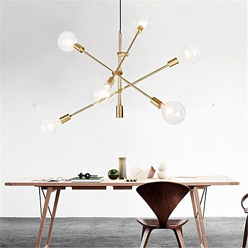 Modern Chandeliers Light Pendant Light Industrial Gold Metal Ceiling Fixtures#Gold