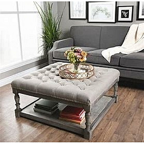 Emilyr Contemporary Centre Piecee Tuffed Ottoman (DELIVERY ONLY IN LAGOS)