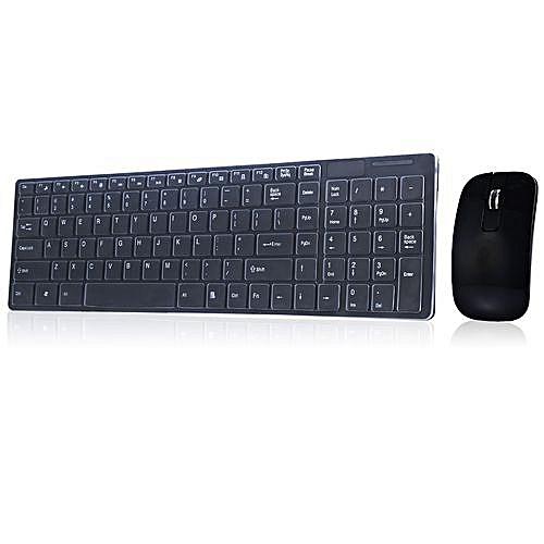 Wireless Keyboard / Mouse Combo - Black