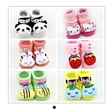 Girls Booties Gift Set Socks 6 Pairs - Multicoloured