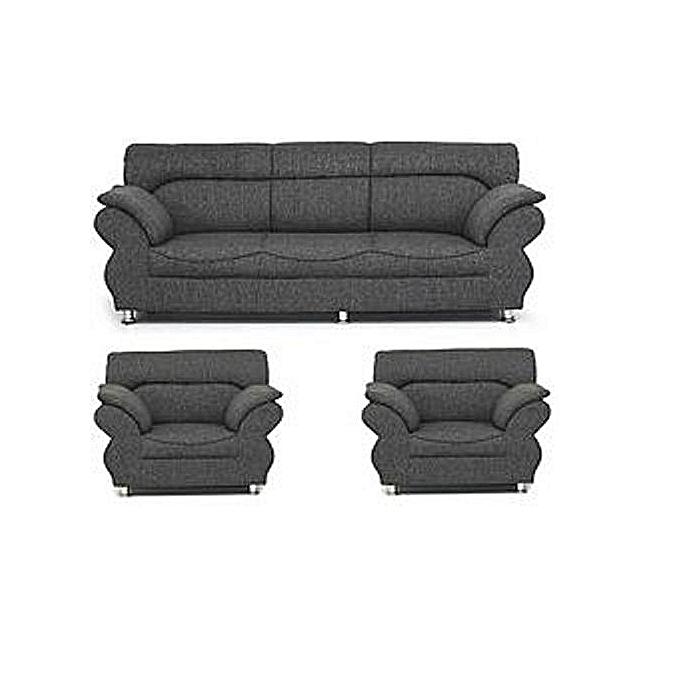 Sofa Free Delivery: Generic PAWA FURNITURE 'ABUNDO SUPER GREY' 5 Seaters Sofa