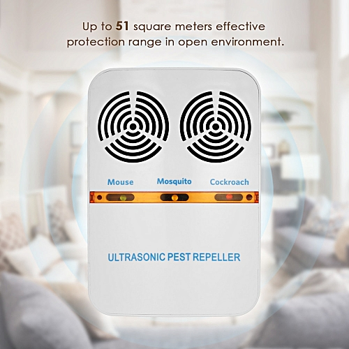 Double-Horn US Plug-in Electric Pest Bug Mosquito Cockroach Repeller Electromagnetic Ultrasonic Mouse Insect Control Repeller UDOKA