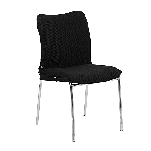 Removable Swivel Chair Cover Black