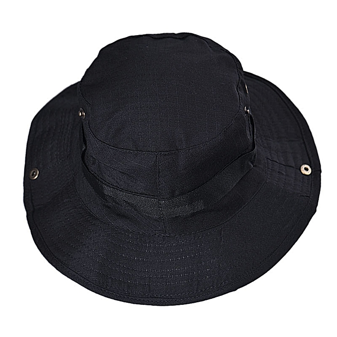 5ec7fb263d2512 Eissely Bucket Hat Boonie Hunting Fishing Outdoor Wide Cap Brim Military BK