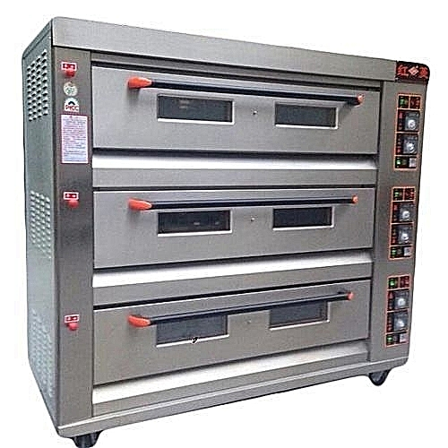 INDUSTRIAL GAS 3 DECK 9 TRAYS OVEN