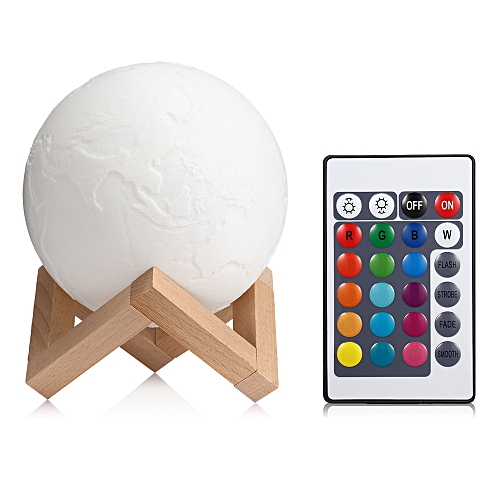 3D Printing Earth Light Night Lamp Remote Control For Study