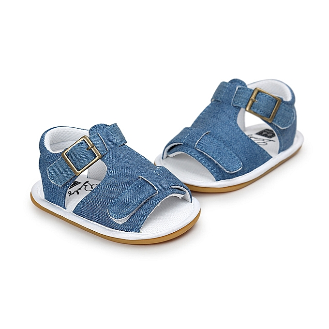 fb6efe852741 ... Baby Boys Sandals Shoe Casual Shoes Sneaker Anti-slip Soft Sole Toddler  - Blue ...