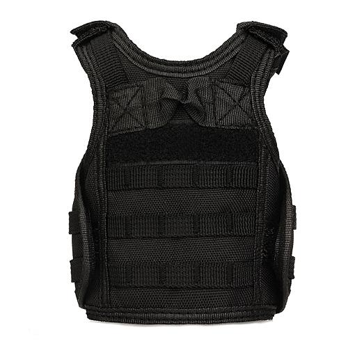 UJ Molle Mini Miniature Vests Beverage Cooler Cover Adjustable Shoulder Straps-black