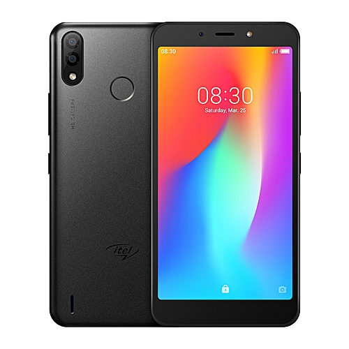 P33 5.5-Inch HD (1GB,16GB ROM) Android 8.1 Oreo Go, 8MP + 5MP Dual SIM 3G 4000mAh Smartphone - Midnight Black + Free Case