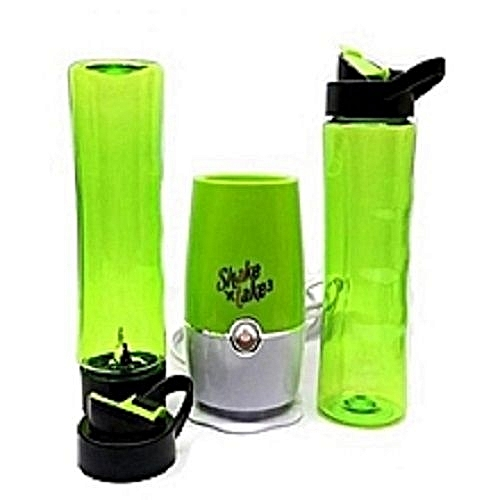 Smoothie Maker And Juice Mini Blender With 2 Bottles - Green/Yellow