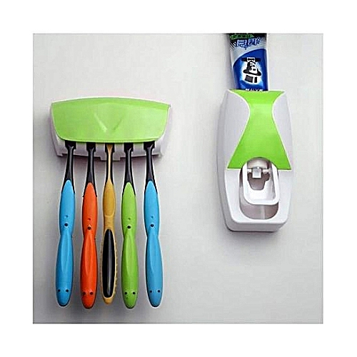 Efficient Tooth Paste Dispenser And Brush Holder