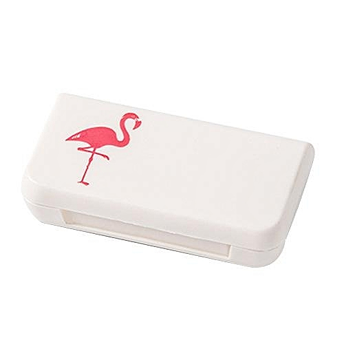 Mini Portable Medicine Box Nordic Style Three With Lid Portable Tablets Storage Box Sub-package Sealed Dust-proof Cover Box