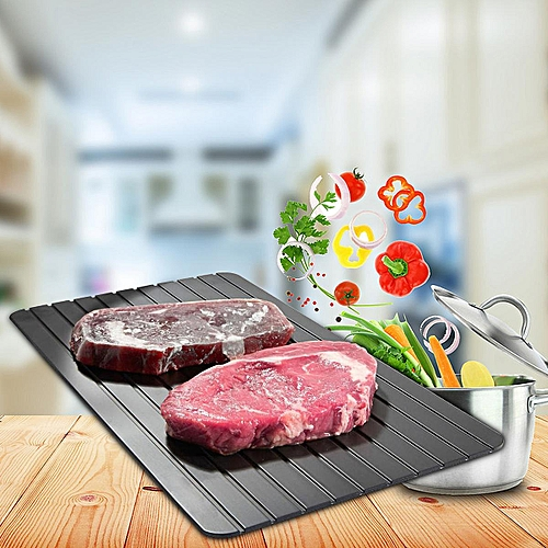 2PCS Kitchen Fast Safest Defrosting Tray Frozen Meat Food Quick Thawing Board Tool 29.5x20.3x0.2cm
