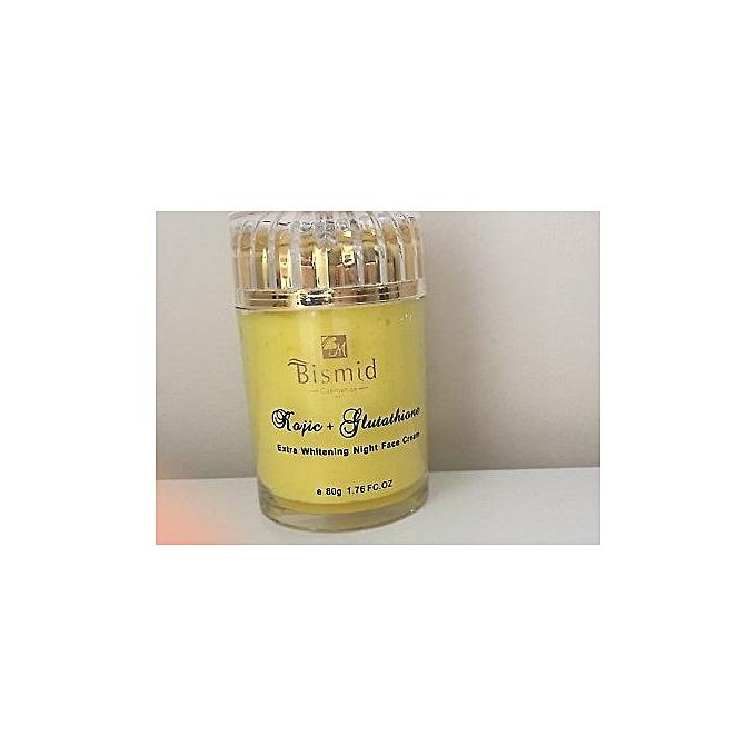 Night Face Cream With Extra Whitening Kojic + Glutathione - 80g