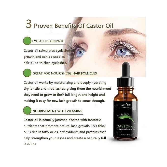 Lanthome Castor Oil For Eyelashes Growth Serum Promotes Natural