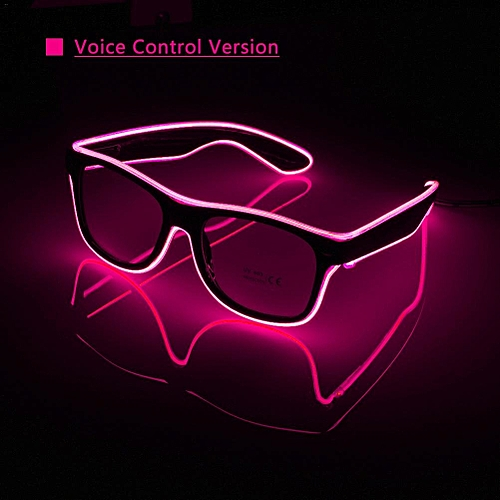 Voice Control LED Glasses Upgraded Type EL Fashionable Neon Cold Sound Control Luminous Glasses Bar Party Gifts Atmosphere Props