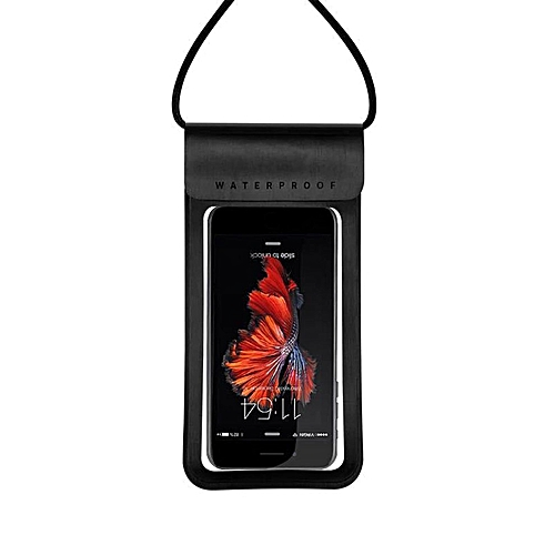 UU Outdoor Waterproof Bag Case With Hanging Strap Phone Holder Sports-black
