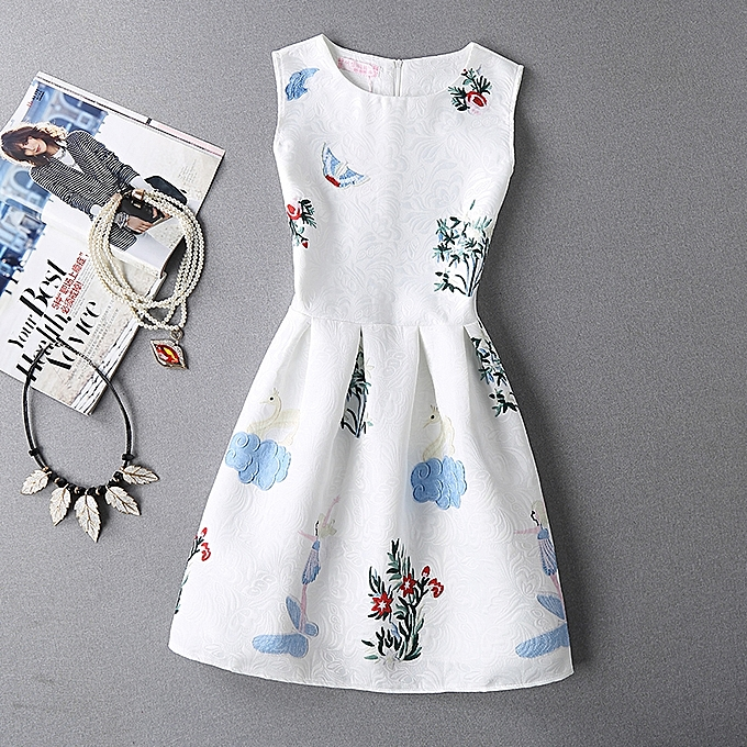 f8f19ab0a1 Korea Spring/Summer Dresses Women Solid Dress Office Dresses Flower Print  Casual Dresses Femme Vestidos