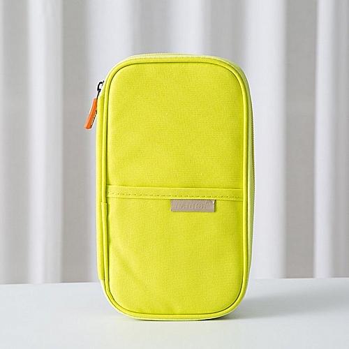 Travel Passport Storage Bag Wallet Multifunction Credit Card Package Organizer Green