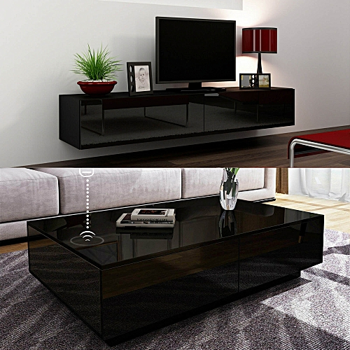 Orzorn Wall Mount TV Stand 2.0 With Boxini Wireless Charging Coffee Table(2 Piece Set)