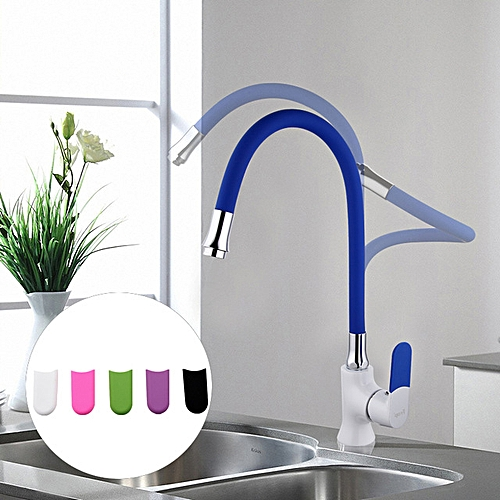 FRAP F4034 Multi-color Kitchen Faucet Silica Gel Nose Any Direction Cold And Hot Water Mixer White