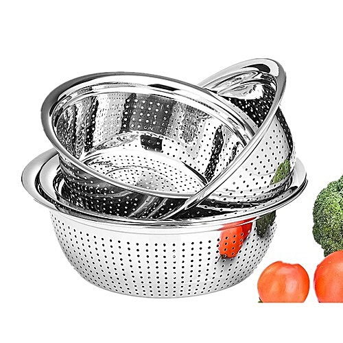 Stainless Steel Colander Set Of 4