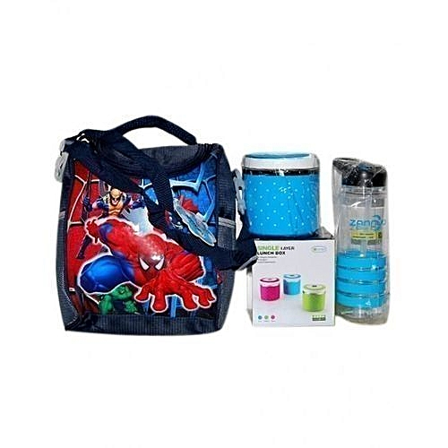 Kid's Combo Lunch Pack Lunch Bag Water Bottle Food Flask