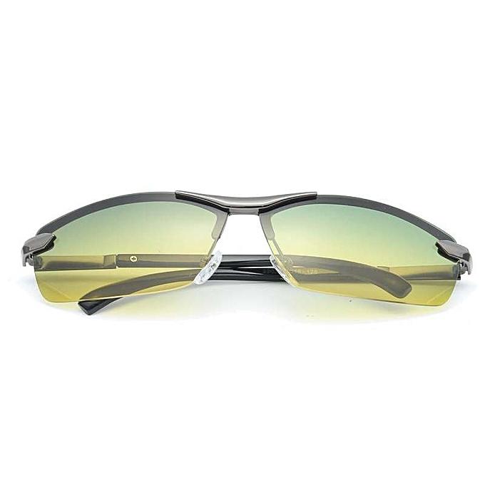 b993dfa254a ... Day Night Vision Men s Polarized Sunglasses Driving Pilot Mirror Sun  Glasses ...